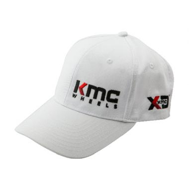 HAT KMCLOGO CURVED BILL WHITE