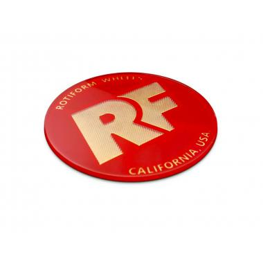 "Rotiform Red & Gold Decal ""RF"""